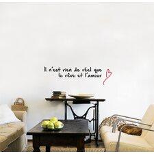Mia & Co La Réalité De L'Amour Wall Decal