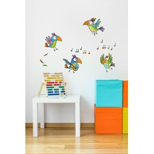 Ludo Parrots Wall Decal