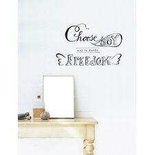 Blabla To Find Freedom Wall Decal