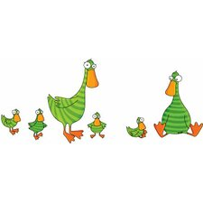 Ludo Duck and Ducklings Wall Decal