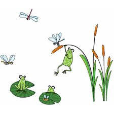 Ludo Frogs Wall Decal