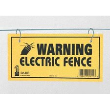 Electric Fence Warning Sign (Set of 3)