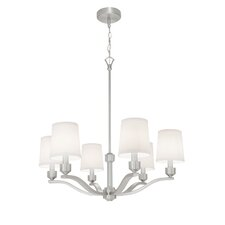Roule 6 Light Candle Chandelier