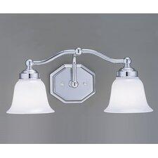 Trevi Hexagon Shape 2 Light Bath Vanity Light