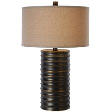"""Wave 28.5"""" H Table Lamp with Drum Shade"""