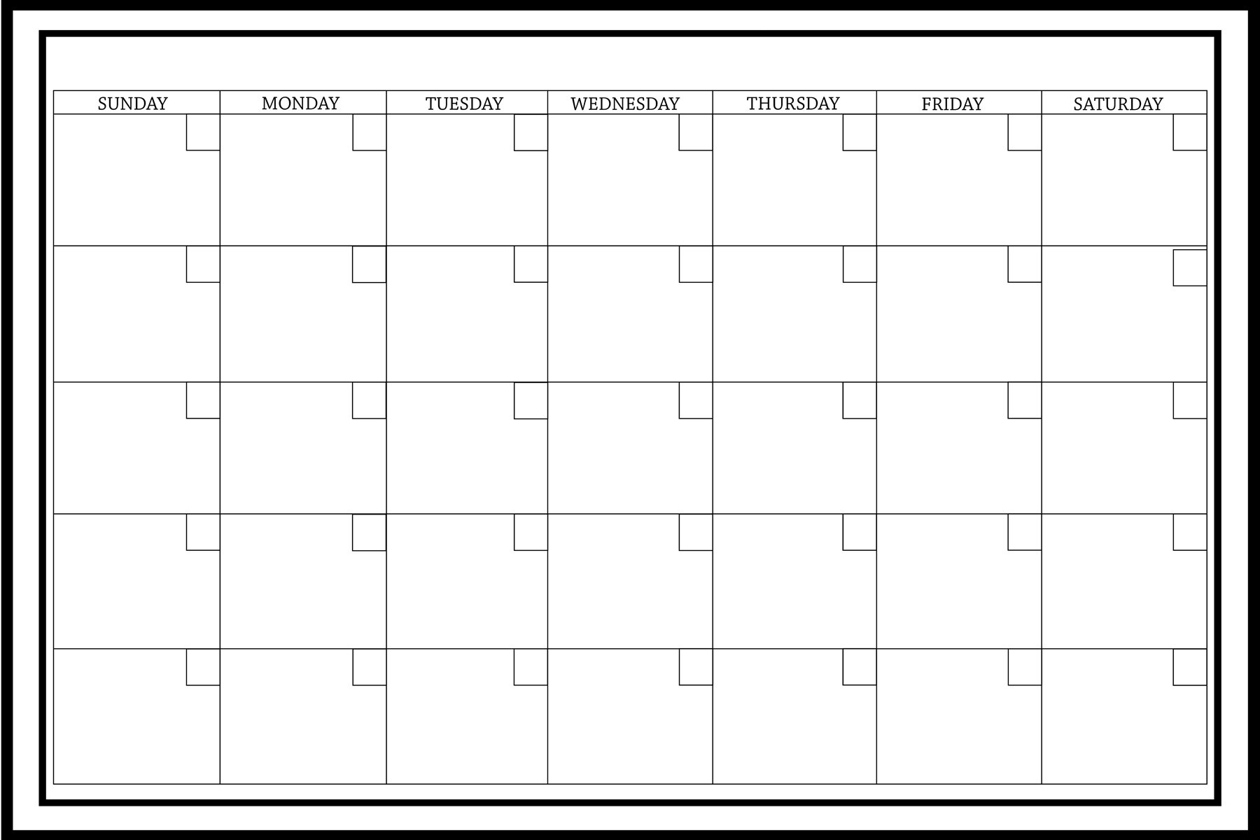 WallPops Calendar Whiteboard Wall Decal