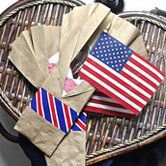 patriotic utensil holder