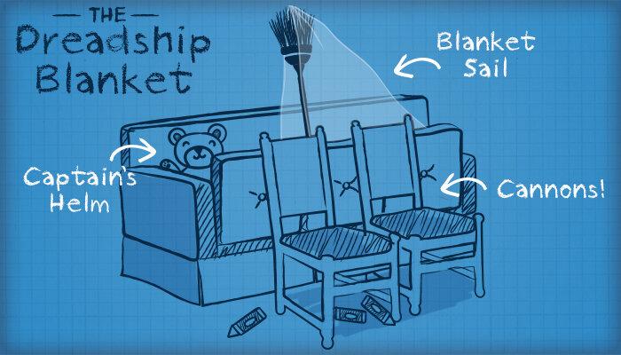 Dreadship Blanket Sofa Fort