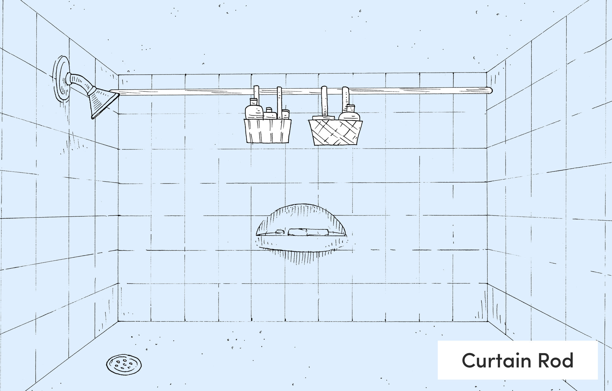 Metal Shower & Bath Caddies You\'ll Love | Wayfair