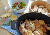 Zitronenhuhn frisch aus dem Ofen