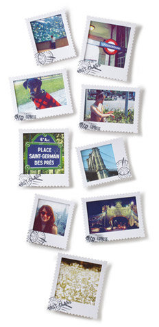 postal wall-mount picture frames