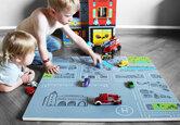 DIY: Meine Stadt – Spielplatte für Kinder