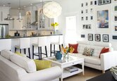 Room Tour: Crisp and Clean Living Room