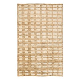 Blocks Hand Knotted Jute Camel Area Rug