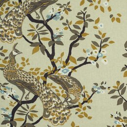 Vintage Plumes Fabric - Birch