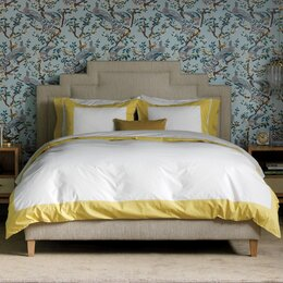 Modern Border Citrine Duvet Cover