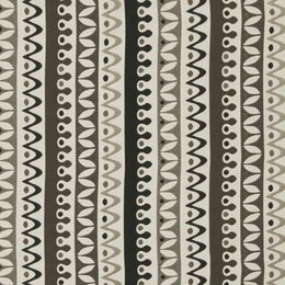 Nordic Stripe Fabric - Jet