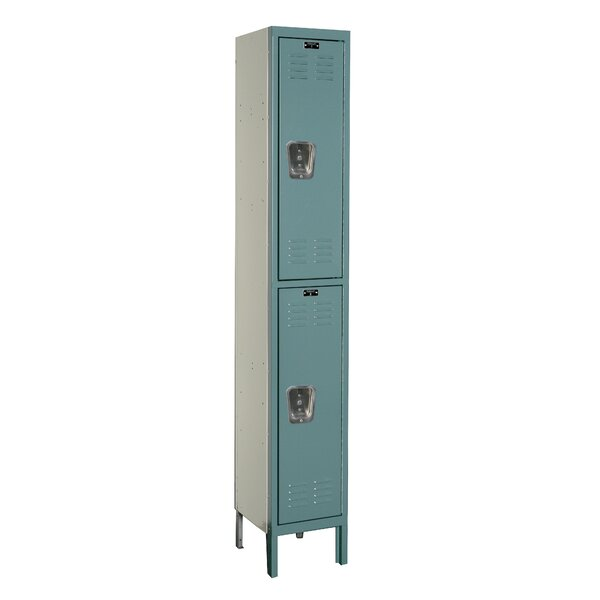 Premium 2 Tier 1 Wide Contemporary Locker