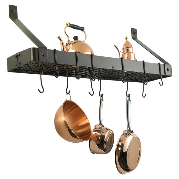 Wall Mouned Pot Rack with Grid