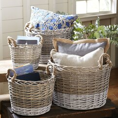 Willow Handled Baskets (Set of 4)