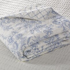 Karen Blue Reversible Quilt Collection