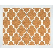 Quatrefoil 2' H x 2' W Wall Mounted Bulletin Board