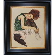 The Artist's Wife by Schiele Framed Original Painting