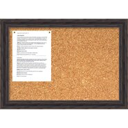 Antique Pine Cork Wall Mounted Bulletin Board, 2' H x 2' W