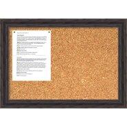 Antique Pine Cork Wall Mounted Bulletin Board, 2' H x 2' W