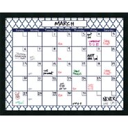 Mezzanotte Quatrefoil Dry-Erase Calendar Whiteboard, 2' H x 3' W
