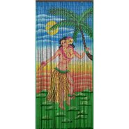 Dancing Hula Girl Single Curtain Panel