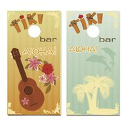 Tiki Bar Music Cornhole Game (Set of 2)