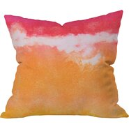 Tangerine Tie Dye by Laura Trevey Indoor/Outdoor Throw Pillow