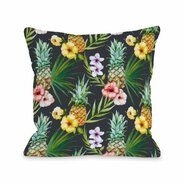 Hawaiian Pineapples Throw Pillow