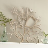 Seagrass-Wrapped Coral Decor