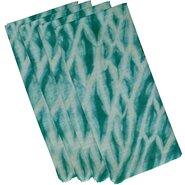 Beach Vacation Shibori Stripe Geometric Napkin (Set of 4)