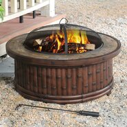 Tecumseh Aluminum Wood Fire Pit Table