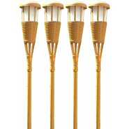 Solar Flickering Tiki Torch (Set of 4)
