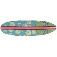 Surfboard Hawaiian Blue Area Rug
