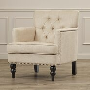 Tufted Upholstered Club Arm Chair