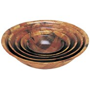 Round Wood Salad Bowl