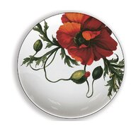 "Papaver 4"" Melamine Wine Glass TidBit Topper Plate (Set of 4)"
