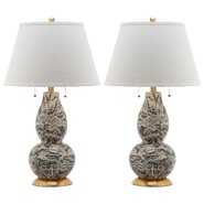 "Swirls 32"" H Table Lamp with Empire Shade (Set of 2)"