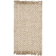 Natural Fiber Contemporary Natural/Ivory Area Rug