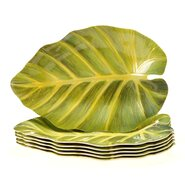 Sunset Palm Leaf Plate (Set of 6)