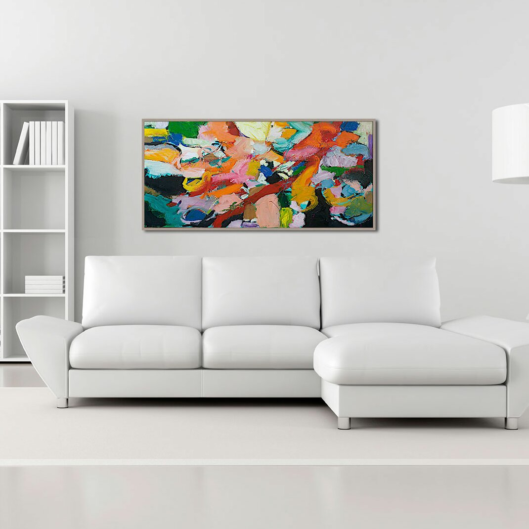 colors for bathroom ptm images brush of color abstract gicl 233 e framed painting 12391