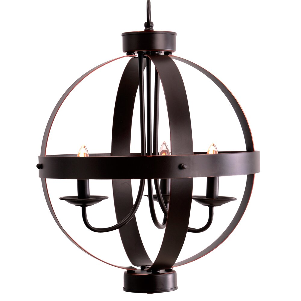 Wayfair Chandelier: Catalina Lighting 3 Light Candle Chandelier & Reviews