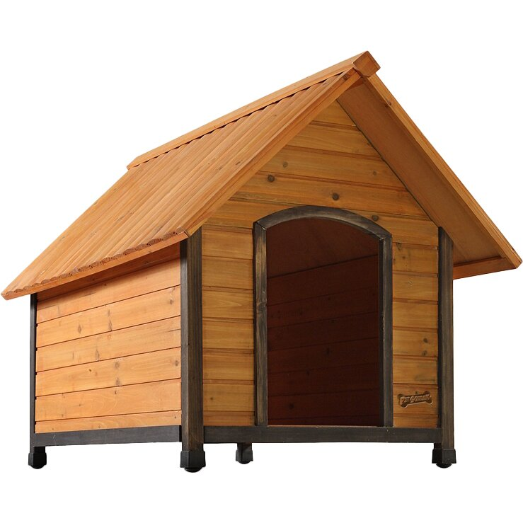 The Pet Squeak Arf Frame Dog House is a Real Wood Home for your woofer. One of Pet Squeak's most popular Dog Houses, the Arf-Frame provides your pet their own comfortable habitat.