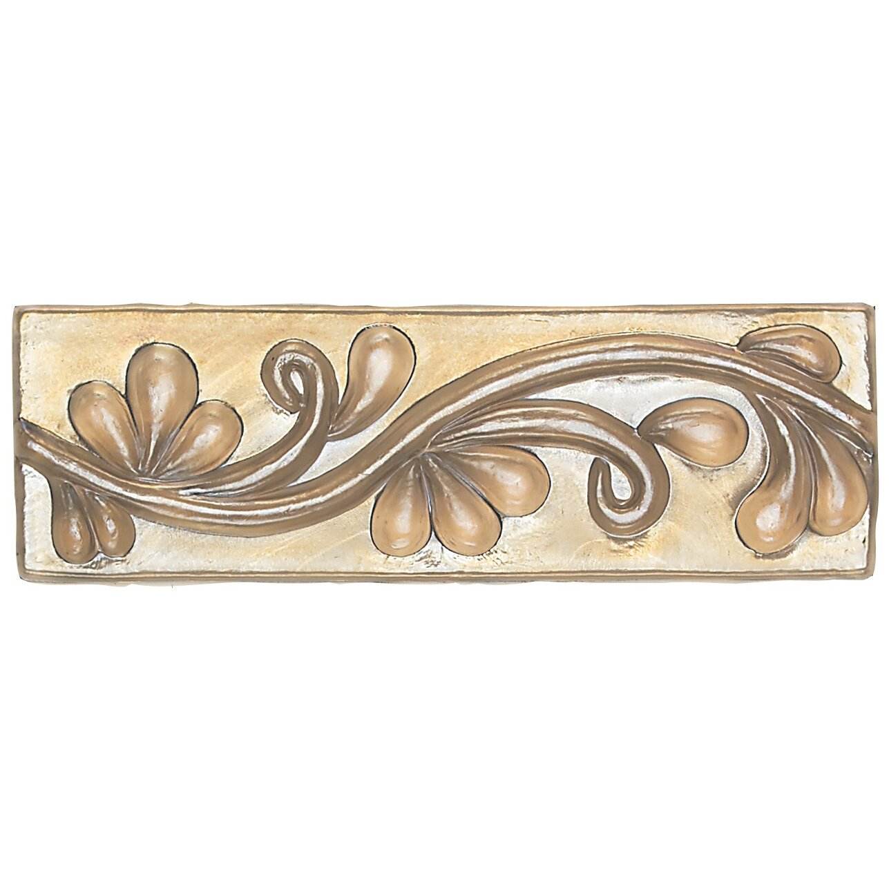 "Daltile Cristallo Glass 8"" X 3"" Decorative Vine Chair Rail"