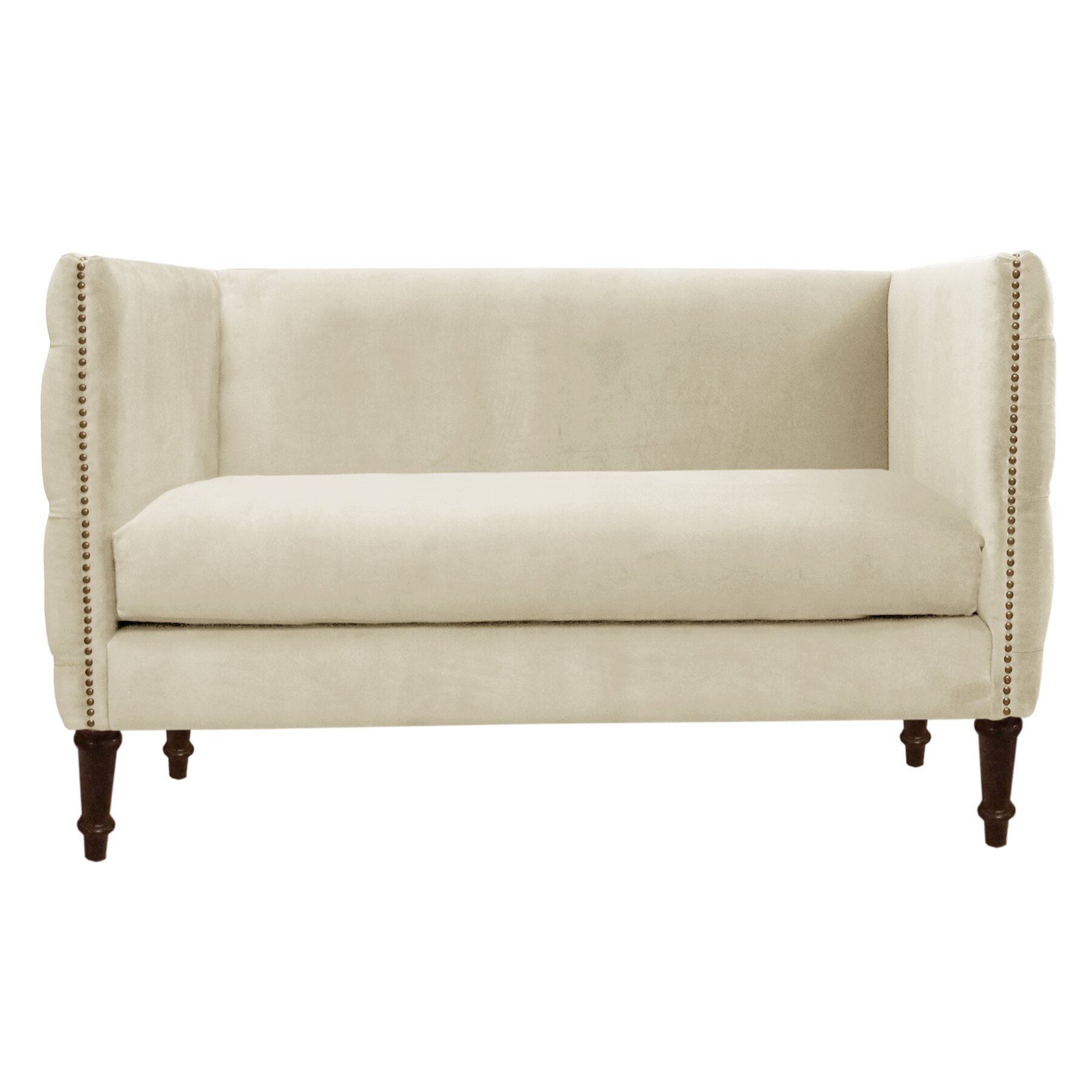Skyline Furniture Regal Nail Button Tufted Settee Loveseat Reviews Wayfair
